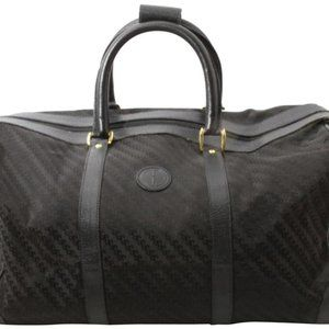 Gucci Black GG monogram Boston Duffle Bag 861921